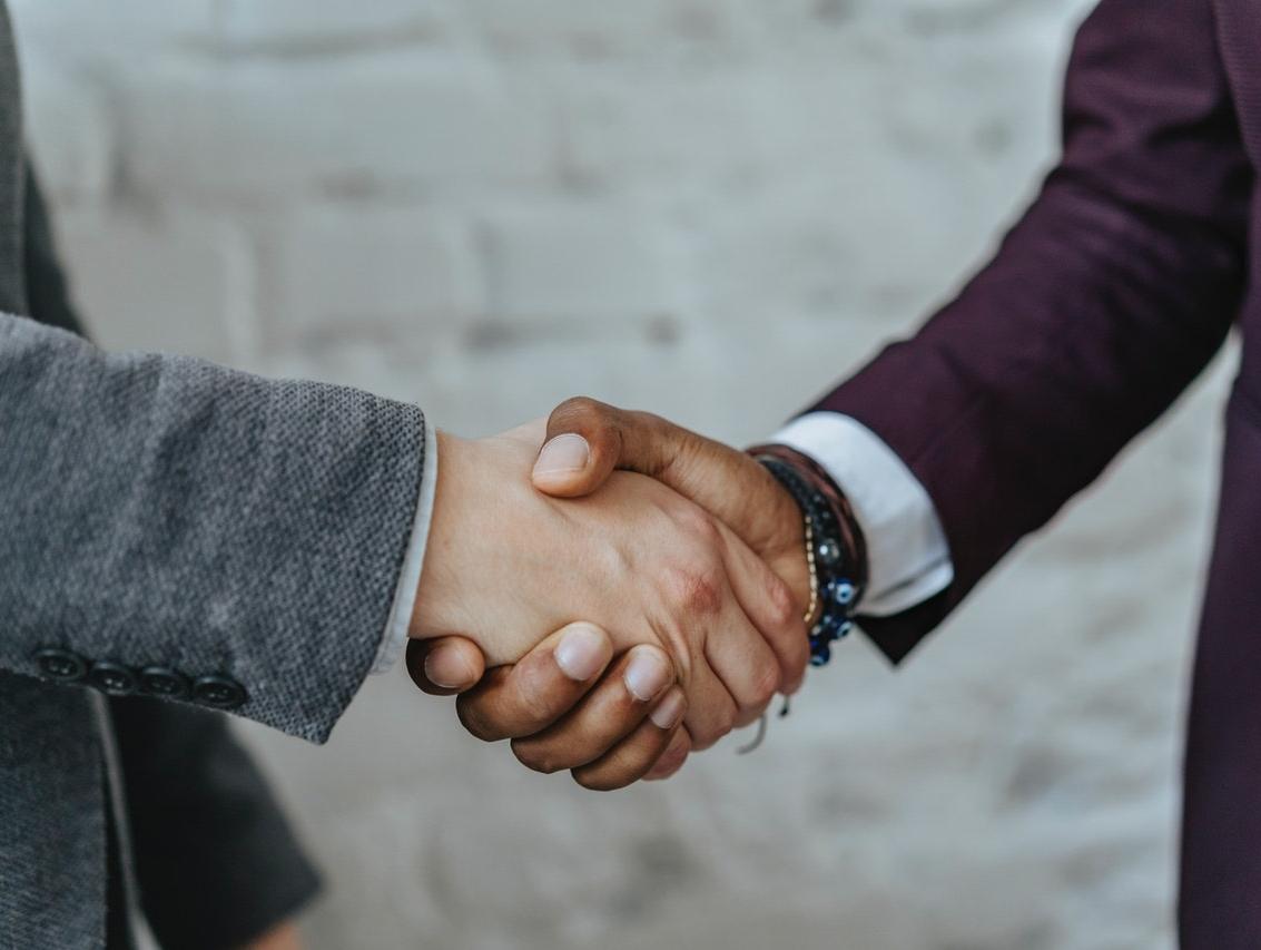 Mindful inspiring Personality Handshake